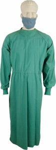 "Movie/TV Memorabilia:Costumes, ""Medical Center"" Chad Everett Screen-Worn Costume. Dr. Joe Gannon's green full-length cotton surgical gown with back ties at... (Total: 1 Item)"