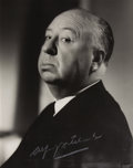 "Movie/TV Memorabilia:Photos, Vintage Portrait of Alfred Hitchcock. A vintage b&w 8"" x 10""photograph of Alfred Hitchcock in his trademark profile pose e...(Total: 1 Item)"