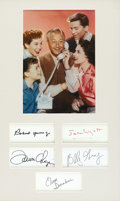 "Movie/TV Memorabilia:Autographs and Signed Items, ""Father Knows Best"" Cast Autograph Presentation. A presentation offive individual Father Knows Best cast member autogra...(Total: 1 Item)"