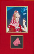 "Movie/TV Memorabilia:Costumes, ""I Dream of Jeannie"" Swatch from Original Costume. A Jeannie fabric swatch from Jeannie's signature harem-style ensemble wor... (Total: 1 Item)"