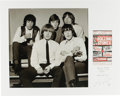 Music Memorabilia:Photos, Rolling Stones Silver Gelatin Print by Ian Wright with Handbill. Alarge-format photograph of the Rolling Stones early in th...(Total: 1 Item)
