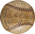 Autographs:Baseballs, 1927 Babe Ruth, Walter Johnson & More Signed Baseball....