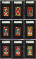 Baseball Cards:Lots, 1911 T205 Gold Border Collection (128) With HoFers. ...