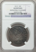 Bust Half Dollars: , 1810 50C -- Improperly Cleaned -- NGC Details. AU. NGC Census:(46/394). PCGS Population (59/249). Mintage: 1,276,276. Numi...