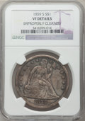 Seated Dollars: , 1859-S $1 -- Improperly Cleaned -- NGC Details. VF. NGC Census:(1/118). PCGS Population (9/182). Mintage: 20,000. Numismed...