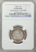 Seated Quarters: , 1888 25C -- Improperly Cleaned -- NGC Details. VF. NGC Census:(0/127). PCGS Population (0/176). Mintage: 10,000. Numismedi...