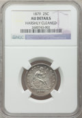 Seated Quarters: , 1879 25C -- Harshly Cleaned -- NGC Details. AU. NGC Census:(4/190). PCGS Population (4/209). Mintage: 13,600. Numismedia W...