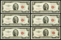 Small Size:Legal Tender Notes, Fr. 1509* $2 1953 Legal Tender Notes. Nine Examples. Very Choice Crisp Uncirculated.. ... (Total: 9 notes)