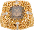 Estate Jewelry:Rings, Cynthia Bach Diamond, Gold Ring. ...