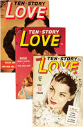 Golden Age (1938-1955):Romance, Ten Story Love Group (Ace, 1951-56) Condition: Average VF....(Total: 12 Comic Books)