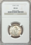Standing Liberty Quarters: , 1930-S 25C MS66 NGC. NGC Census: (43/18). PCGS Population (105/22).Mintage: 1,556,000. Numismedia Wsl. Price for problem f...