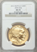 Modern Bullion Coins, 2012 G$50 One-Ounce Gold Buffalo MS70 NGC. NGC Census: (0). PCGSPopulation (59). ...