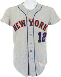 Baseball Collectibles:Uniforms, 1966 John Stephenson Game Worn New York Mets Jersey....