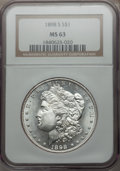 Morgan Dollars: , 1898-S $1 MS63 NGC. NGC Census: (578/726). PCGS Population(1098/1636). Mintage: 4,102,000. Numismedia Wsl. Price for probl...