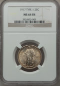 Standing Liberty Quarters: , 1917 25C Type One MS64 Full Head NGC. NGC Census: (1278/1111). PCGSPopulation (1701/1442). Mintage: 8,740,000. Numismedia ...