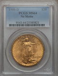 Saint-Gaudens Double Eagles: , 1908-D $20 No Motto MS64 PCGS. PCGS Population (1405/273). NGCCensus: (604/47). Mintage: 663,750. Numismedia Wsl. Price fo...