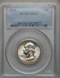 Washington Quarters: , 1940 25C MS67 PCGS. PCGS Population (99/1). NGC Census: (159/0).Mintage: 35,715,248. Numismedia Wsl. Price for problem fre...