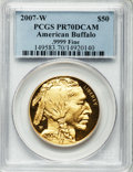 Modern Bullion Coins, 2007-W G$50 One-Ounce Gold Buffalo PR70 Deep Cameo PCGS. PCGSPopulation (702). NGC Census: (3235). Numismedia Wsl. Price ...