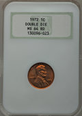 Lincoln Cents: , 1972 1C Doubled Die Obverse MS64 Red NGC. NGC Census: (511/758).PCGS Population (871/1765). Mintage: 75,000. Numismedia Ws...