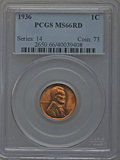 Lincoln Cents, 1936 1C MS66 Red PCGS; 1936-D MS66 Red PCGS; 1937-D MS66 Red PCGS;1938-D MS66 Red PCGS; 1938-S MS66 Red PCGS; 1939-D MS66 Re...(Total: 15 coins)