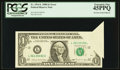 Error Notes:Foldovers, Fr. 1914-L $1 1988 Federal Reserve Note. PCGS Extremely Fine 45PPQ.. ...