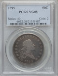 Early Half Dollars, 1795 50C 2 Leaves VG8 PCGS. O-105, R.4....