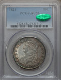 Bust Half Dollars: , 1821 50C AU53 PCGS. CAC. PCGS Population (61/263). NGC Census:(49/323). Mintage: 1,305,797. Numismedia Wsl. Price for prob...