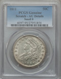 Bust Half Dollars: , 1811 50C Small 8 -- Scratched -- PCGS Genuine. AU Details. PCGSPopulation (34/207). ...