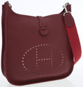 Luxury Accessories:Bags, Hermes Rouge H Togo Leather Evelyne II Crossbody Messenger Bag. ...