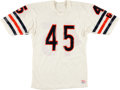 Football Collectibles:Uniforms, Circa 1985 Gary Fencik Game Issued Bears Jersey. ...