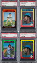Baseball Cards:Lots, 1975 Topps and Topps Mini PSA Graded Collection (129). ...