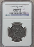 Large Cents, 1794 1C Head of 1794, S-26, B-16, R.2 -- Corrosion -- NGC Details.XF. PCGS Population (0/4). ...
