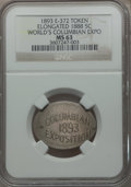 Expositions and Fairs, 1893 World's Columbian Exposition, Elongated 1888 Nickel, MS63 NGC.Eglit-372....