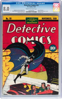 Detective Comics #33 (DC, 1939) CGC VF 8.0 Cream to off-white pages