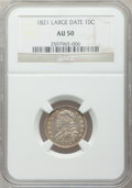 Bust Dimes: , 1821 10C Large Date AU50 NGC. NGC Census: (9/148). PCGS Population(16/123). Mintage: 1,186,512. Numismedia Wsl. Price for ...
