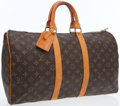 Luxury Accessories:Bags, Louis Vuitton Classic Monogram Canvas Bandouliere Keepall 45Weekender Overnight Bag . ...