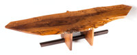 A GEORGE NAKASHIMA PERSIAN WALNUT AND ROSEWOOD MINGUREN I COFFEE TABLE George Nakashima, New Hope, PA, Circa 197
