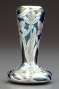 Art Glass:Loetz, A LOETZ IRIDESCENT GLASS VASE WITH ALVIN SILVER OVERLAY . AlvinCorporation, Providence, Rhode Island, circa 1900. Glasfabri...