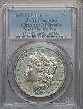 Morgan Dollars, 1878 8TF $1 First Die Pair, VAM-9 -- Cleaned -- PCGS Genuine. XFDetails. Top-100. PCGS Population (26/80). NGC Census: (0...