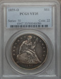 Seated Dollars: , 1859-O $1 VF35 PCGS. PCGS Population (23/720). NGC Census: (7/496).Mintage: 360,000. Numismedia Wsl. Price for problem fre...
