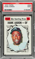 Baseball Cards:Singles (1970-Now), 1970 Topps Hank Aaron All Star #462 PSA Mint 9 - None Higher! ...