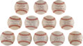 Baseball Collectibles:Balls, 2000's Tony Kubek Single Signed Baseball - Lot of 12. ...