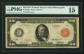 Large Size:Federal Reserve Notes, Fr. 1020a $50 1914 Red Seal Federal Reserve Note PMG Choice Fine 15.. ...