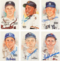 Autographs:Post Cards, 1980's Hall of Famers Signed Perez-Steele Postcards Lot of 56....