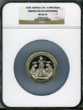 U.S. Mint Medals, 1876 Assay Medal MS66 Prooflike NGC. Julian-CM-11. White metal. 75mm....