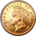 Proof Three Dollar Gold Pieces, 1888 $3 PR63 Cameo PCGS....