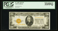 Small Size:Gold Certificates, Fr. 2402 $20 1928 Gold Certificate. PCGS Choice About New 55PPQ.. ...