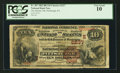 National Bank Notes:Pennsylvania, Pittsburgh, PA - $10 1882 Brown Back Fr. 487 The Marine NB Ch. # (E)2237. ...