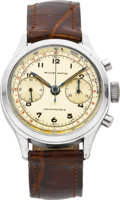 Timepieces:Wristwatch, Nicolet Steel Chronograph, circa 1950's. ...