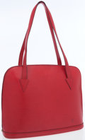 Luxury Accessories:Accessories, Louis Vuitton Red Epi Leather Lussac Tote Bag. ...